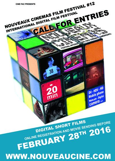 Poster Call for Entry Nouveaux Cinémas Film Festival 2016