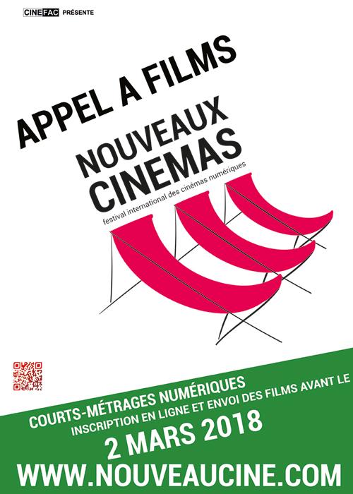 Affiche Appel à films 14ème Festival des Nouveaux Cinémas 2018