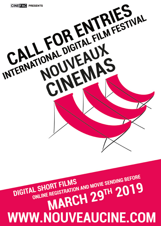 Poster Call for entries Nouveaux Cinemas Film Festival 2019