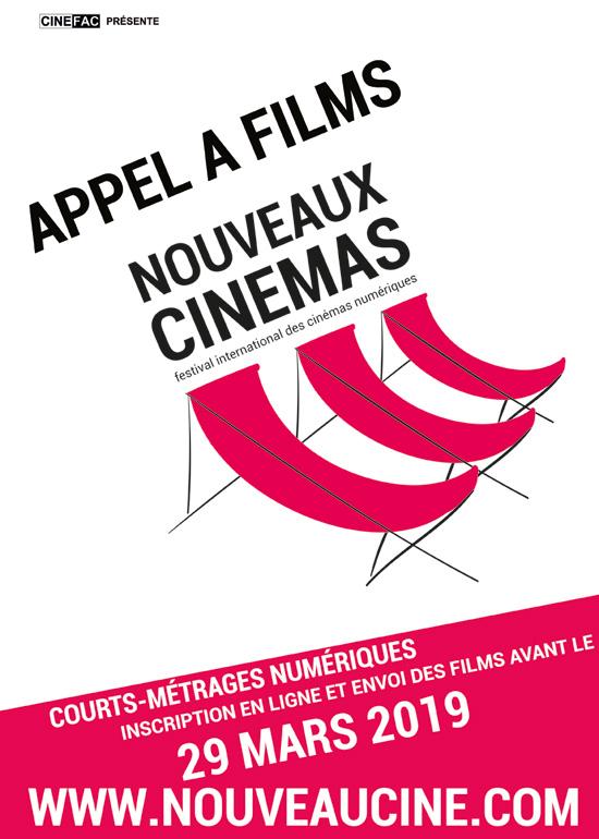 Affiche appel à film Festival des Nouveaux Cinémas 2019