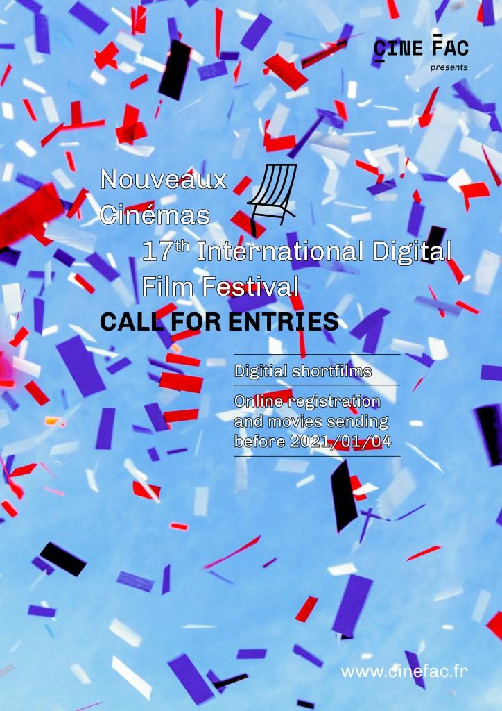Poster Call For Entries 17th Nouveaux Cinemas Film Festival